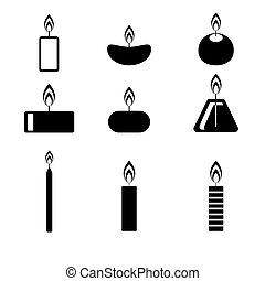 Candles icon. Vector illustration