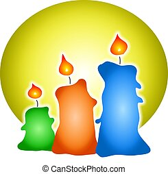 Candles illustration