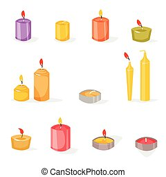 Candles in a flat style.