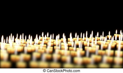 Candles in the night, loop