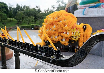 Candles in the temple.