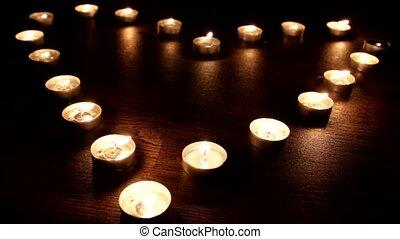 Candles Lights - Love Heart
