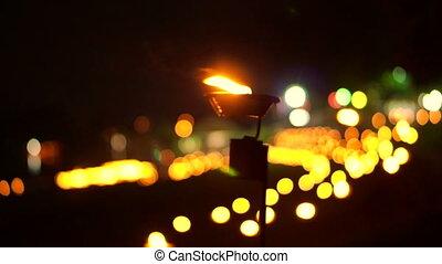 candles loi Krathong lantern yeepen - Video of Religious...