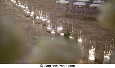 Candles on the floor