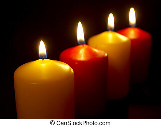 candles row