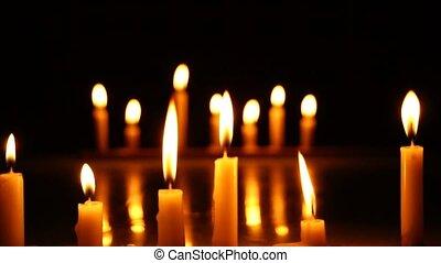 Solidarity candles.