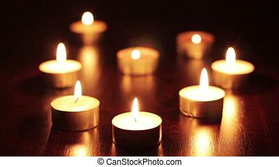 Candles - Many burning candles