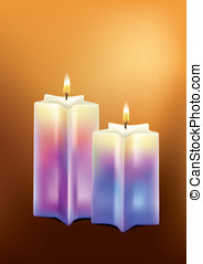 Candles. Vector illustration