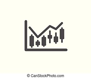 Candlestick chart simple icon. Financial graph.
