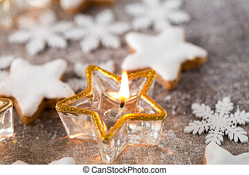Candlestick. Christmas lantern. Cristmas decoration,...