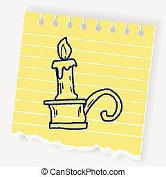 candlestick doodle