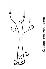 Candlestick isolated on a white background. 3d rendering
