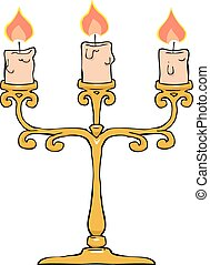 Candlestick on a white background vector illustration