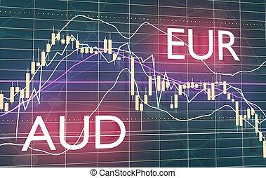 Candlestick stock exchange background