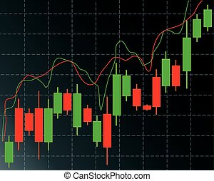 candlestick trading chart in forex and day trading stock...