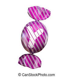 Candy 3d font letter Y