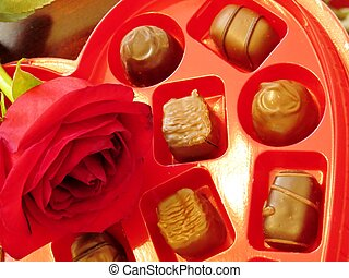 Candy and a rose