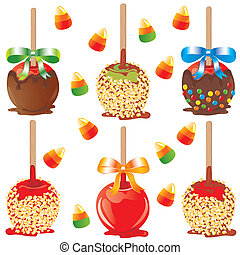 Candy apple treats - Selection of carmel apples for...