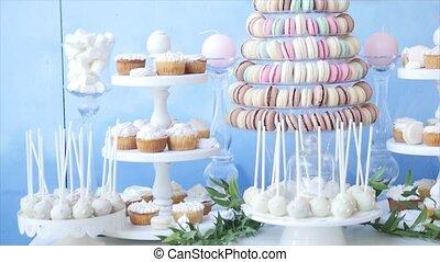 candy bar at a wedding