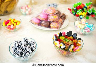 candy bar  at wedding