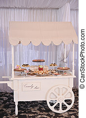 Candy bar with many cakes