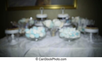 Candy bar with sweets