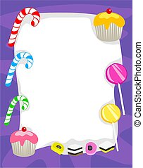 Candy Border - Candy page border design. Useful for creating...
