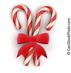 Candy Cane and Celebration Bow