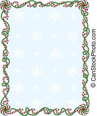 Candy Cane Border - A border or frame with candy canes and...