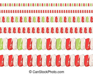 Candy Cane Borders