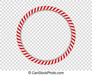 Candy Cane Circle