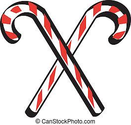 Candy cane clip art border graphic