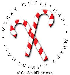 Candy Cane Design - A fun candy cane icon for Christmas-...