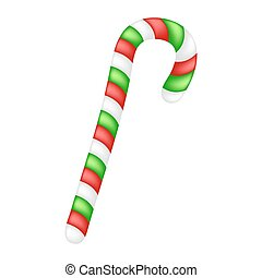 Candy cane for christmas design isolated on white background