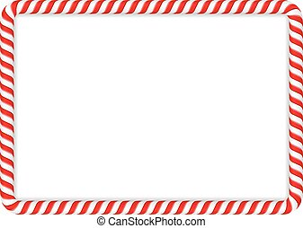 Candy Cane Frame - Frame made of candy cane, vector eps10...