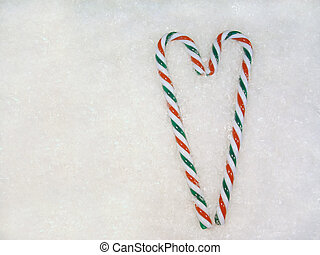 Candy Cane Heart - Candy cane heart on the snow