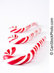 Candy cane isolated on white background