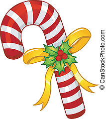 Candy Cane Mascot - Mascot Illustration of a Candy Cane with...