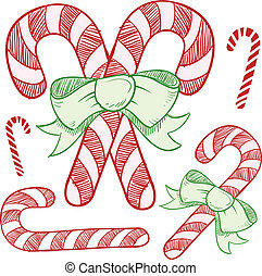 Candy cane sketch