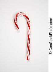 Candy cane. - Still life of red and white candy cane.