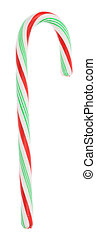 Candy Cane - A photo of a red and green candy cane set...