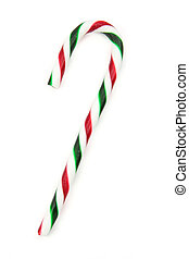 Candy cane ornaments with white background