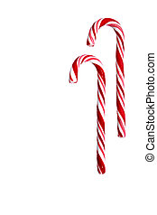 Candy Cane - with clipping path - Two candy canes isolated...
