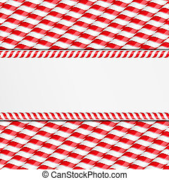 Candy Canes Background - Background made of candy canes with...