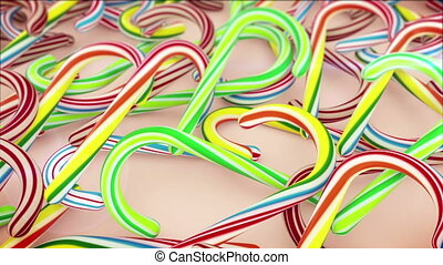 Candy Canes for Christmas - Colorful Candy Canes for...