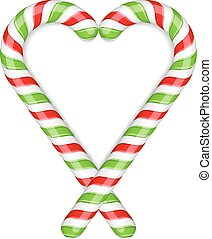 Candy Canes Heart