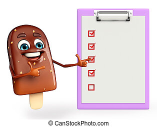 Candy Character With notepad