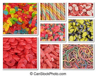 Candy collage wallpaper