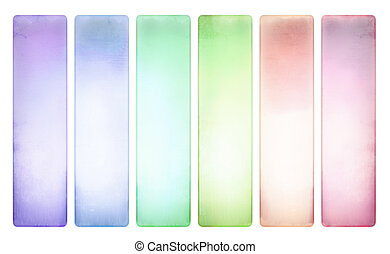 Candy color textured banner set pale - Candy color textured...