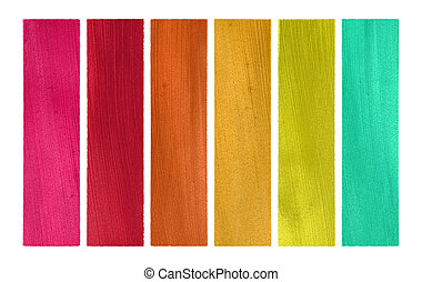 Candy Colors Coconut Paper Banner Set Isolated with Clipping...